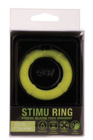 Stimu Ring Green 37mm - Péniszre helyezhető O alakú gyűrű