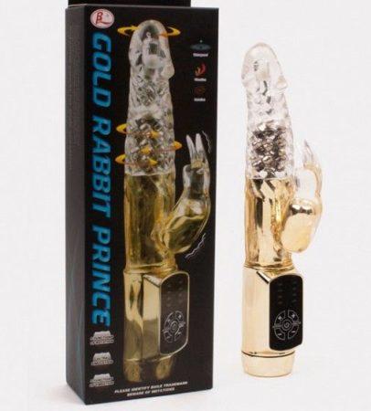 Gold Rabbit Prince. gyöngyös vibrátor