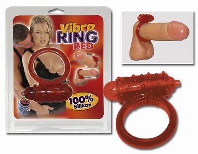 Vibrációs péniszgyűrű piros