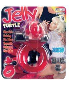 Vibrációs péniszgyűrű teknősbéka (jelly turtle ) csiklóizgatóval