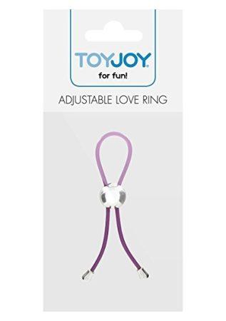 TOYJOY Adjustable Love Ring Lila - fekete Állítható erekciópánt