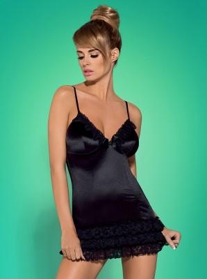 Blackbella chemise hálóing + tanga (Obsessive)