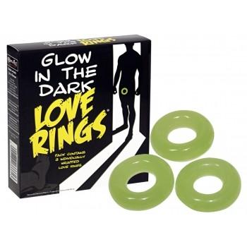 Glow in the Dark Sötétben világító szerelemgyűrű szett