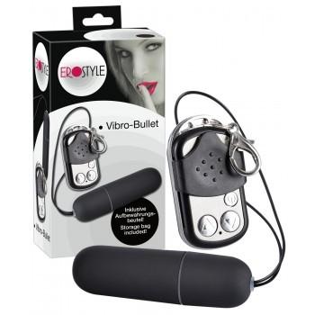 EROSTYLE - rádióvezérlésű csikló vibrátor (fekete)