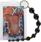 Análfüzér - fekete (Anal Beads Chain X-10 Beads - Black)