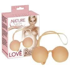Nature skin love balls gésagolyó (natúr és pink színben)
