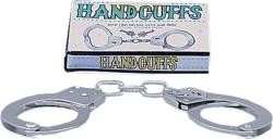 Large Metal Handcuffs with Keys - fémbilincs