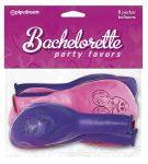 Bachelorette Party Pecker Balloons fütyis lufi (8db)  pink és lila