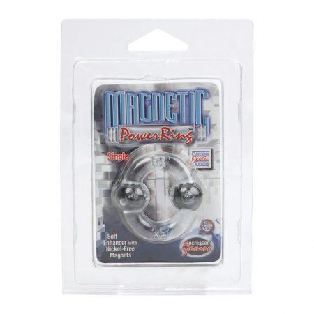 MAGNETIC POWER RING CLEAR mágnenes péniszgyűrű